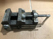 Vintage Machinists Drill Press Vise 4 Wide Jaw Opening 3 14 Cast Iron