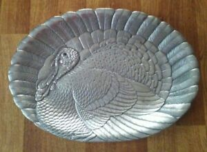 Vintage-ARTHUR-COURT-1988-COLLECTIBLE-TURKEY-PLATTER-17-x-23-1-2-inches
