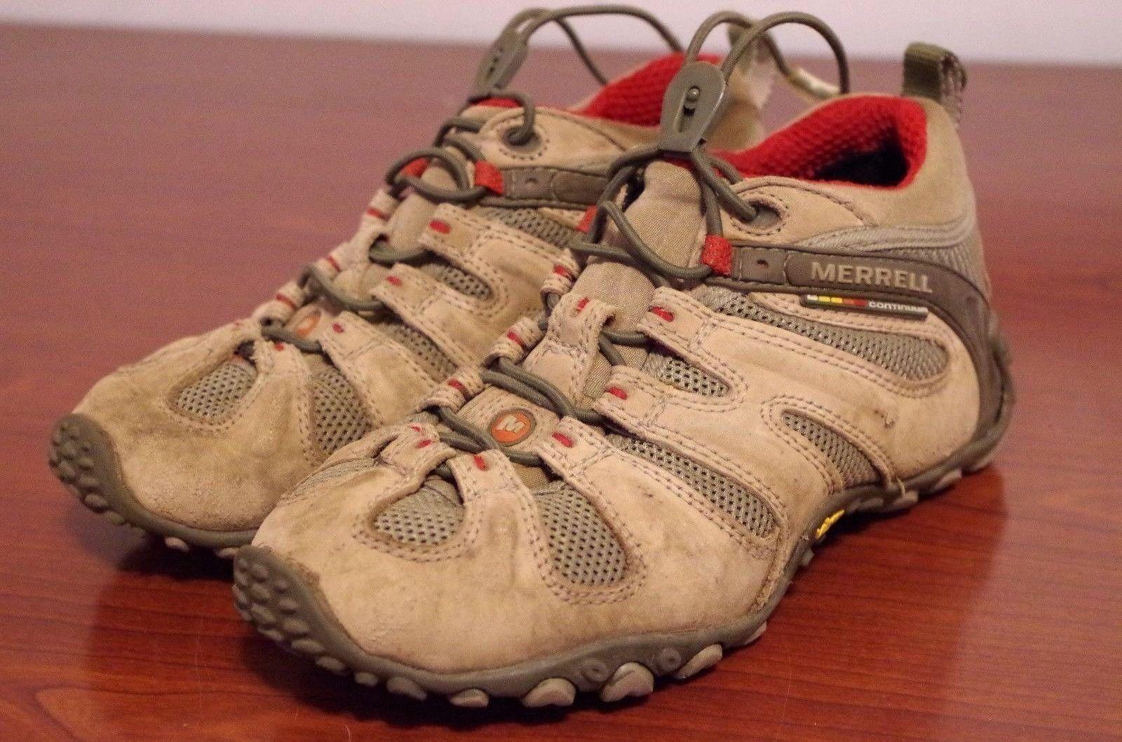 Merrell Chameleon II Stretch Light Brown Vibram Hiking shoes Women's Sz 6.5