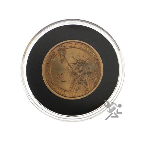 10 Pack Presidential Dollar Coin Capsules Air-Tite Holders 26mm Black Ring