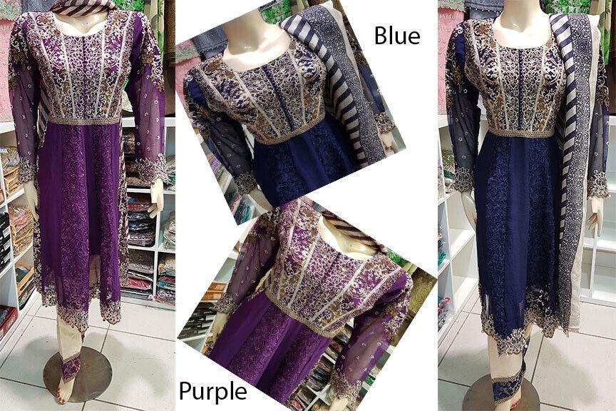 Femmes Inspiration Designer Anarkali Robe Frock Shalwar Kameez Ready Made Pakistan