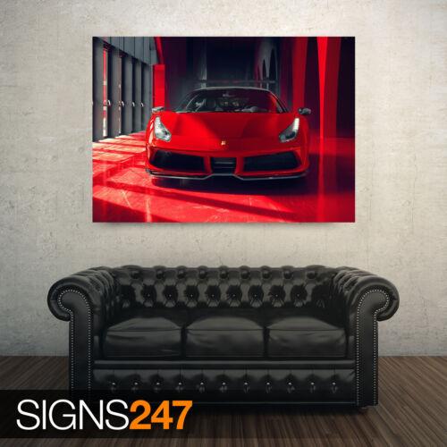 COOL RED FERRARI CAR CAR POSTER AE088 Photo Poster Print Art A0 A1 A2 A3 A4