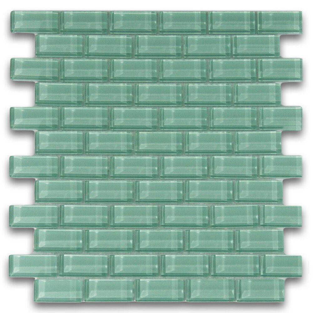 - Sage Green 1x2 Mini Glass Subway Tile For Backsplashes & More