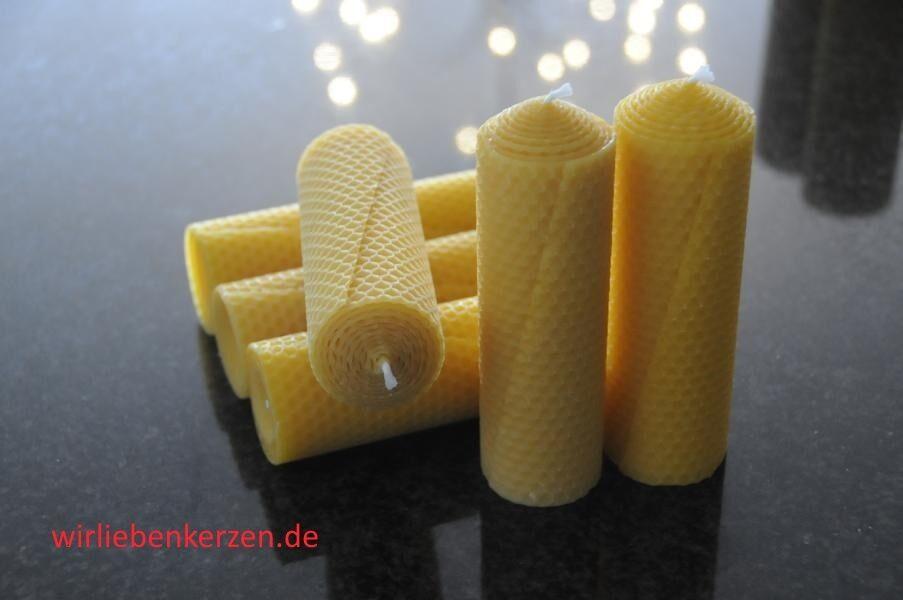 6 x Bougies de Cire D'abeille XL 100 % 145 46mm Fait à la main en d