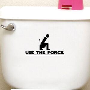 Sticker-adesivo-simpatico-bagno-toilet-toilette-Use-the-Force-Usa-la-forza-WC