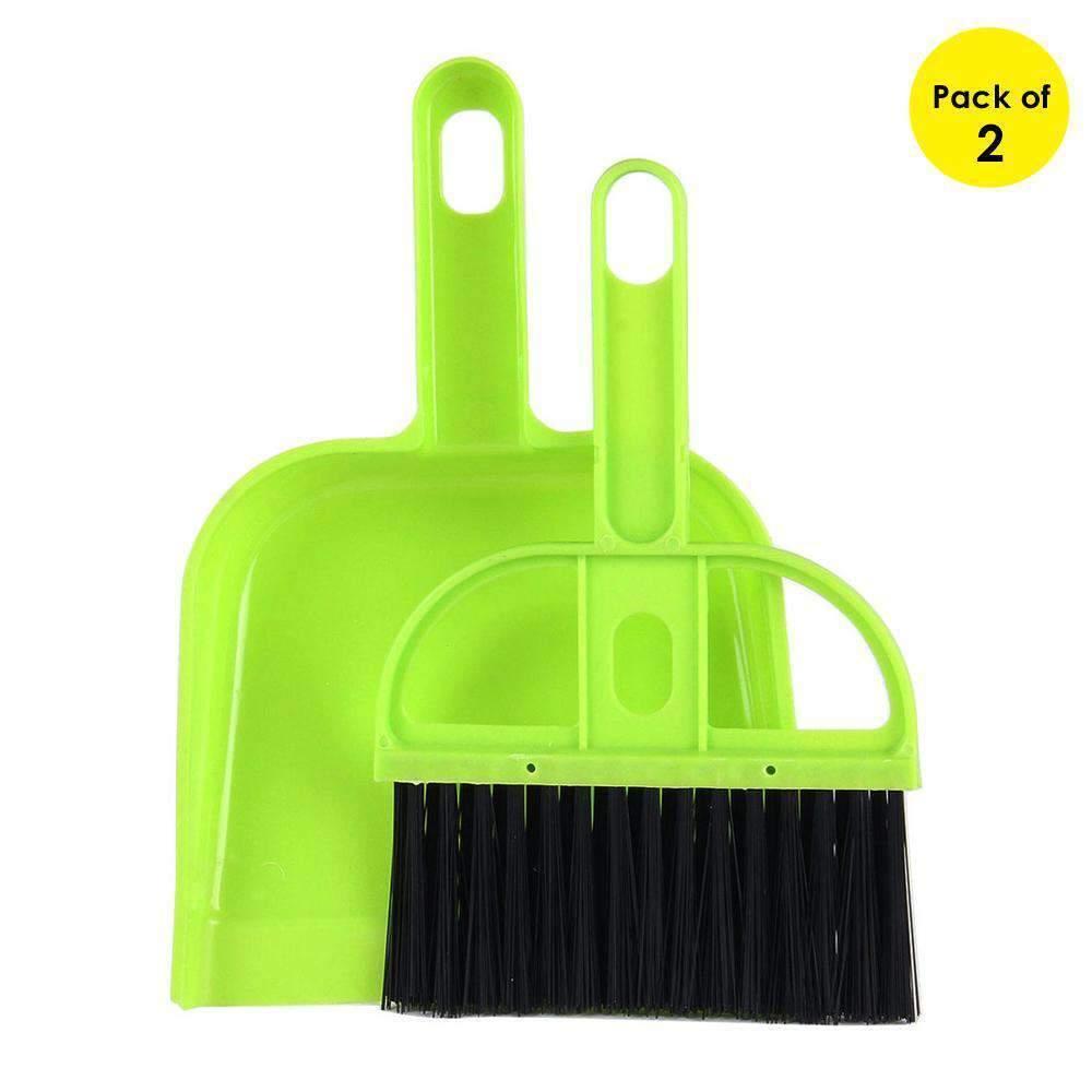 Green Pink Desktop Keyboard Sweep Cleaning Brush Small Broom Dustpan Plastic Clean Tools Mini Shovel Set Computer Brush Blue
