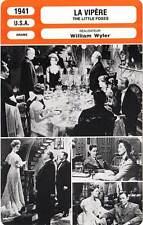 FICHE CINEMA : LA VIPERE - Davis,Marshall,Wyler 1941 The Little Foxes