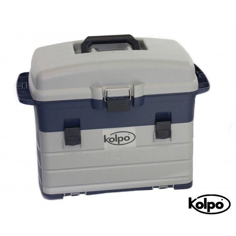 Kolpo Box Service Pesca Con Scatole Cintura Regolabile e Maniglia FS