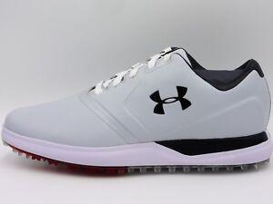 55d647d2 UA Under Armour Performance SL Golf Shoes,1297177-101,White,Men's ...