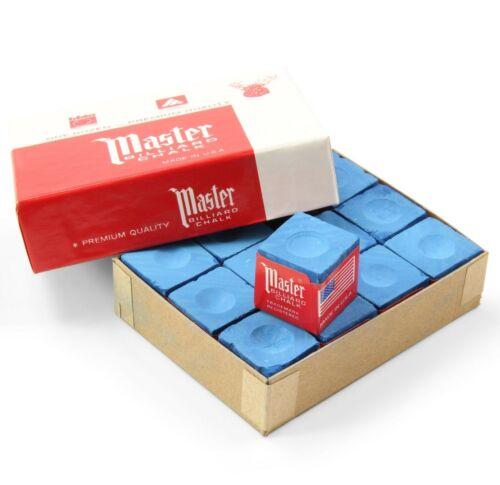 Dozen Box 12 Pieces SKY BLUE Tweeten MASTER BILLIARD Pool Snooker Cue Chalk