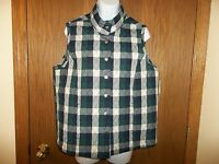 Women's Baxter & Wells Quilted Vest Navy Blue Green Size S Msp $30.00