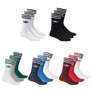 Details zu adidas Originals Crew Socks Socken Strümpfe Kniestrümpfe 3 Paar