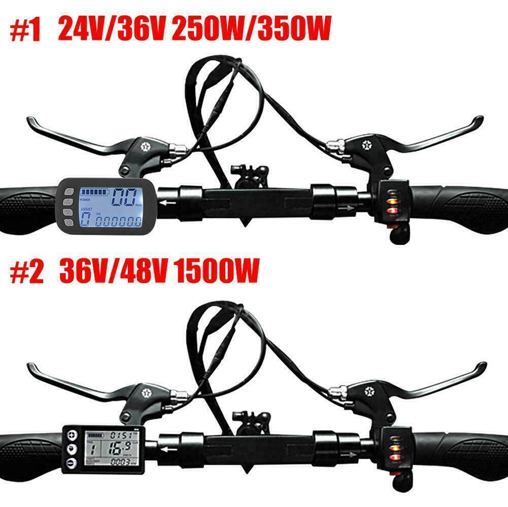 24-48V 250-1500W Brushless Motor Ebike Speed Controller LCD Panel Kit Scooter JA