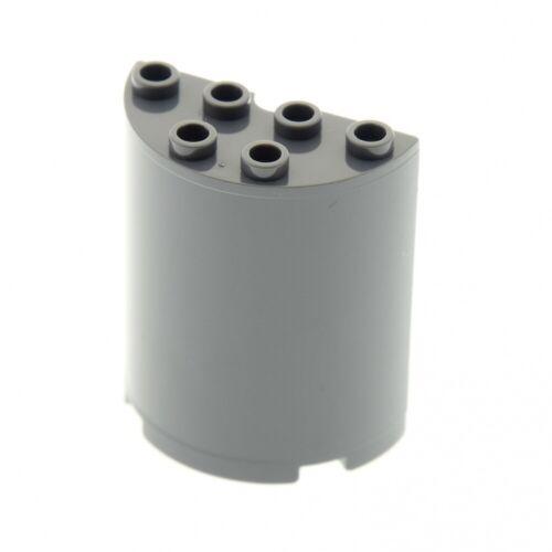 1 X Lego système Cylindre Neuf-Foncé Gris 2x4x4 à moitié environ panneaux pierre UFO mur M