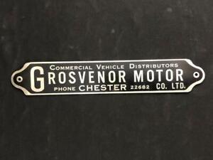 GROSVENOR MOTOR CO LTD COMMERCIAL VEHICLE BUS LORRY BADGE EMBLEM BODY NAME PLATE