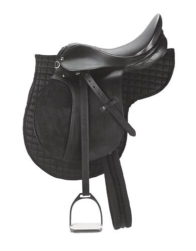 KERBL Sattel-Set Leder Pferdesattel Ponysattel 5-teilig 32196