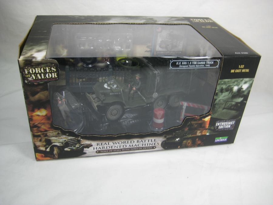 FORCES OF VALOR 1 32 MEZZO MILITARE U.S. 6X6 1,5 TON CARGO TRUCK ART 81018