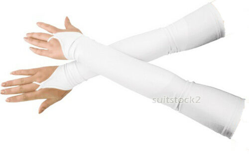Adult Stretchy Lycra Fingerless Over Elbow Opera Long Spandex Gloves
