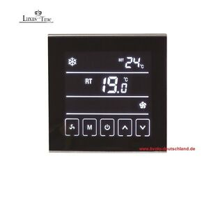 raumthermostat lcd thermostat touchscreen t901 f r heizung. Black Bedroom Furniture Sets. Home Design Ideas