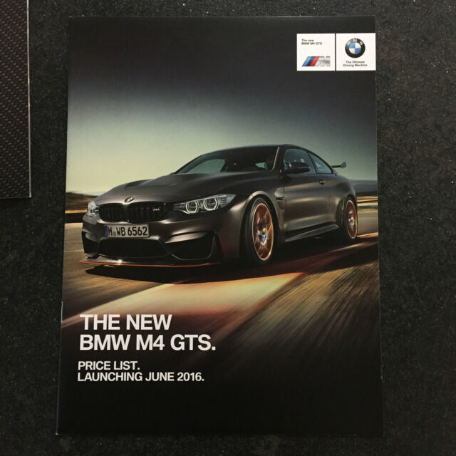 Bmw M4 Gts For Sale >> Bmw F82 M4 Gts Coupe Sales Showroom Brochure List Literature Booklet