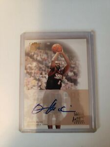 Aaron McKie 2002-2003 Topps Ten Hologram Auto Card!Philadelphia 76ers Autograph