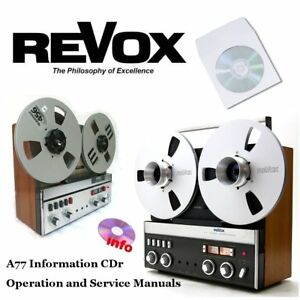 Revox-a77-tape-recorder-reel-to-reel-operation-instruction-service-manual-cd