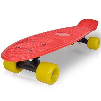 Amichevole Nuovo Rosso & Giallo Skateboard Fun Skate Board Deck Outdoor Cruise Board Wheels Kid-