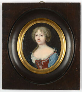 """""""Portrait of a young lady"""", high quality French miniature, 18th century"""
