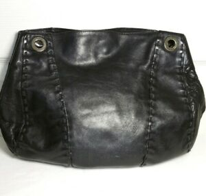 DESMO-WOMEN-S-SHOULDER-BAG-SOFT-BLACK-LEATHER-HANDBAG
