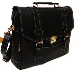 100% Genuine Leather PE 16 inch Laptop Messenger Bag RBS009BL
