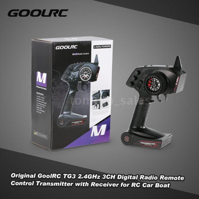 GoolRC TG3 2.4GHz 3CH Digital Radio Remote Transmitter +Receiver for RC D3D0
