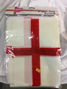 ENGLISH-BUNTING-33-FT-ca-10-06-m-Bandiera-Decorazione-20-Bandiere-10-METRI-COPPA-DEL-MONDO-DI-CALCIO