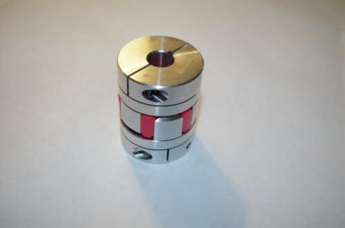"""1//2/""""  X  11mm RULAND ALUMINUM COUPLING WITH SPIDER INSERT  BORE"""