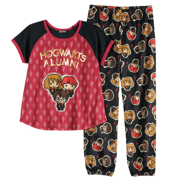 a097b6c9d3576a Harry Potter Hogwarts Top   Jogger Pants Pajama Set for Girls Size 8 ...