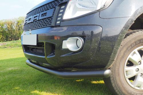 Ford Ranger T6 Black Spoiler Bar 70mm City Bar 2012-2019
