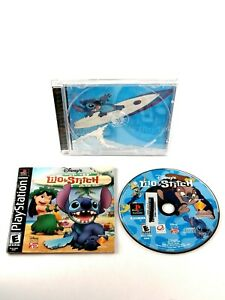 Disney-039-s-Lilo-amp-Stitch-Sony-PlayStation-1-2002-PS1-CIB-Complete-TESTED