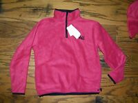 Youth Kid's Wfs Element Gear Maroon Half Zip Vail Fleece Sweatshirt Size M