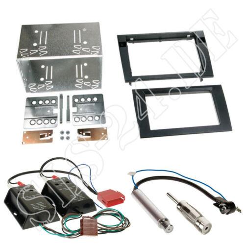 BOSE Aktiv Systemadapter AUDI A4 B6//B7 DOPPEL 2-DIN Blende Rahmen Antenne Set