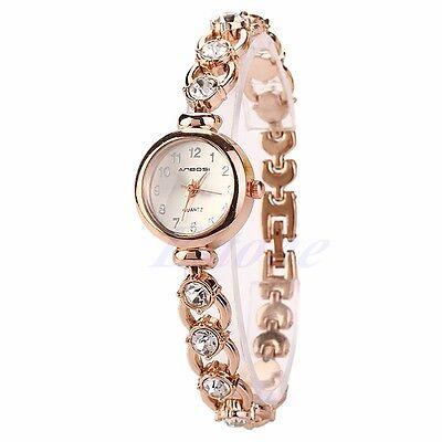 Women's Bangle Bracelet Stainless Steel Crystal Dial Quartz Analog Wrist Watches