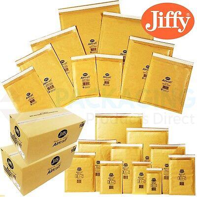 GENUINE JIFFY Padded Bags Airkraft Gold Bubble Envelopes JL000 - 90mm x 145mm