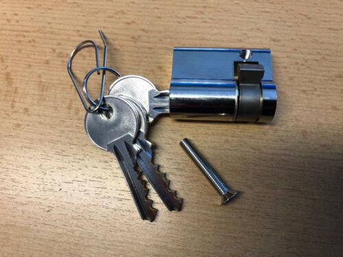 Halbzylinder 10//30 Schloss für LeerSäule Hausanschlusssäule Zähleranschlusssäule