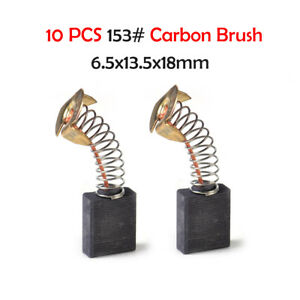 10x-Kohlebuerste-6-5x13-5x18mm-Motorkohlen-Kohlestifte-Schleifkohlen-Motorbuersten