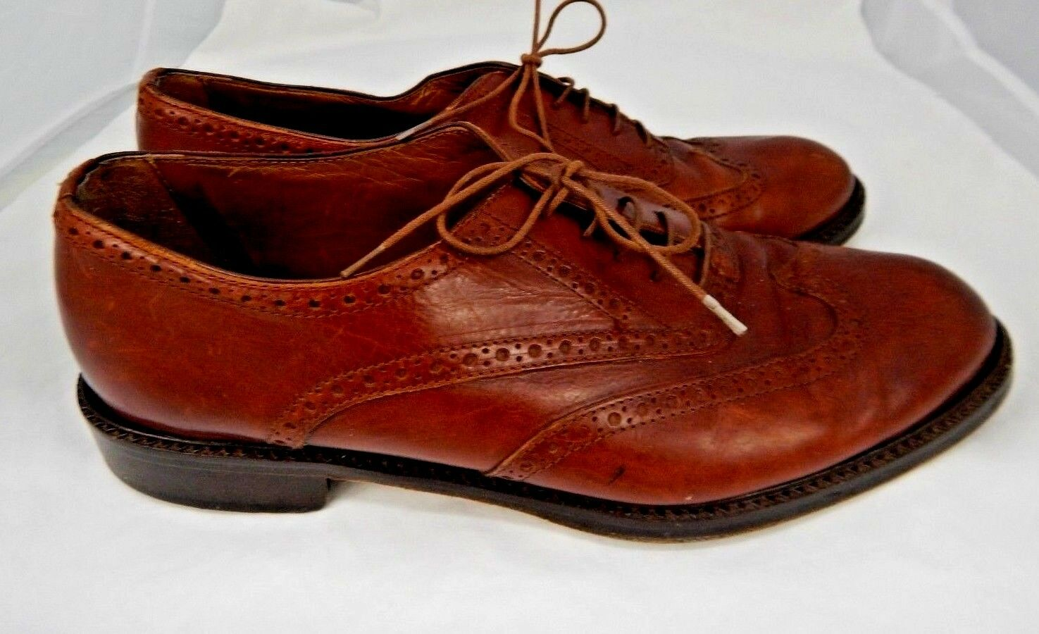 Vintage Men's Joan & David Hand Made Leather shoes Sz 42 10  Made in