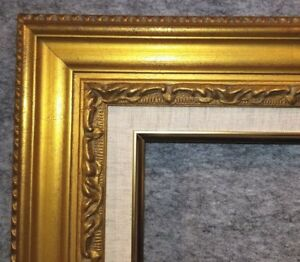 """3.25"""" Antique Gold Leaf Ornate photo Oil Painting Wood Picture Frame 1G 24x30"""