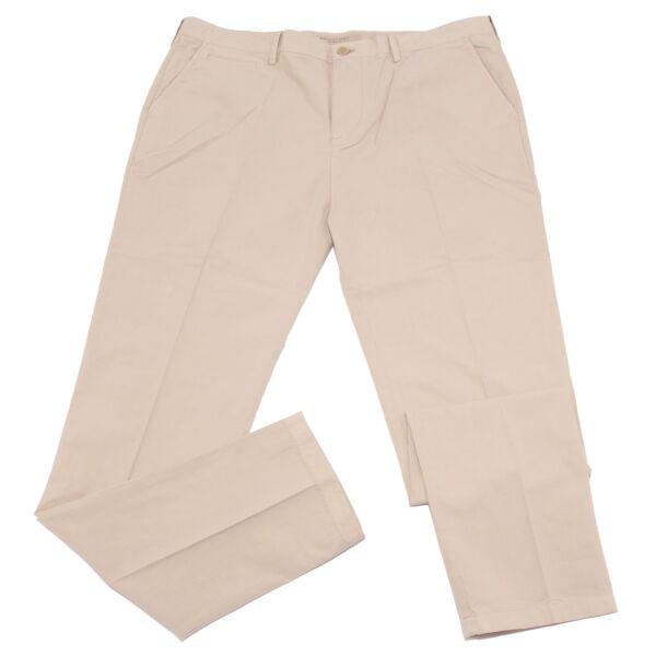 2817w Pantalone Uomo Burberry Beige Cotton Trouser Men