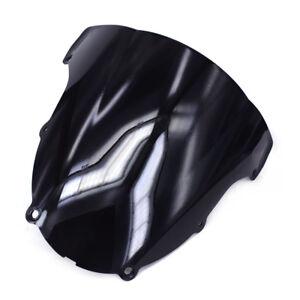 Black-Windshield-Windscreen-Screen-Double-Bubble-For-Kawasaki-ZX6R-ZX636-2003-04