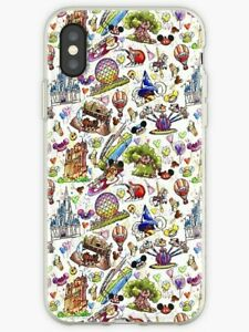 100% authentic 6a1e8 8595e Details about Park Rides iPhone X 5 SE 6 7 8 S Plus, Walt Disney World  iPhone Case & Cover