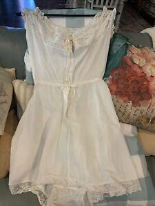 Ladies Petticoat Full Slip Ex BHS Stock White Ribbon Slot Poly Cotton Size 10-20