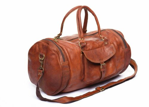 """Leather Travel Bag Duffel Weekender Large Gym Overnight Carry On Luggage 30/"""""""