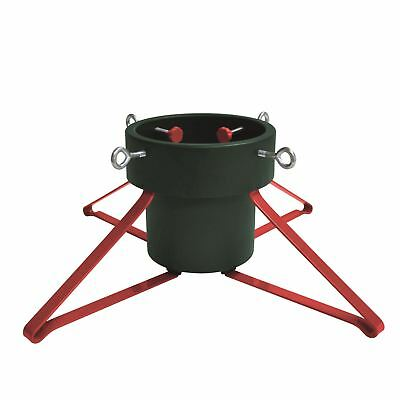 Trendy Christmas Tree Stand up to 2.5m Plastic Metal Green Red Traditional